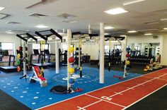 Practical fitness concentrates on training the body in such a method that it can deal with day to day reality activities, like lugging groceries, getting kids and others. Crossfit Home Gym, At Home Gym, Clinic Design, Gym Design, Fitness Depot, Dream Gym, Indoor Track, Gym Interior, Interior Design