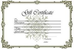 Gift Card Templates Free Gift Certificate Template Pdf #giftvoucher #giftcertificate .