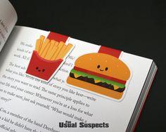 Hamburger e patatine fritte segnalibri di FunUsualSuspects su Etsy