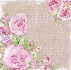 rosas papel arte francés