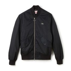 Men's Lacoste LIVE Double Zip Twill Bomber Jacket | LACOSTE
