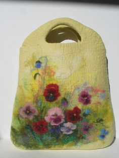 Felted bag. Pansies (duplicate) | Flickr - Photo Sharing!