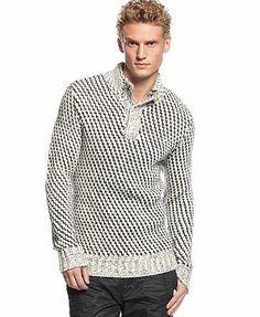 Calvin Klein - White knitwear v neck Mock Neck, V Neck, Scarf Sale, Wool Sweaters, Knitwear, Cool Style, Calvin Klein, Men Sweater, Mens Fashion