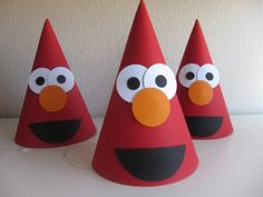 perfect for bday party hats with an elmo/ sesame street theme