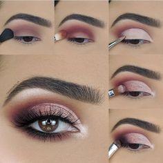 Soft Eye Makeup, Eye Makeup Steps, Makeup Eye Looks, Eye Makeup Art, Smokey Eye Makeup, Eyebrow Makeup, Skin Makeup, Eyeshadow Makeup, Purple Eyeshadow
