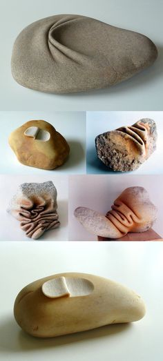 Stones Carved to Appear Like Wrinkled Fabrics by José Manuel Castro López