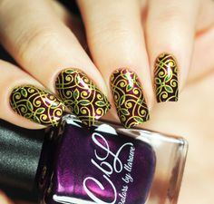 CbL Valentine 2917 Collection - You Sexy Thing lends itself to this Turkish themed mani. Stamped with Born Pretty Store YaQuinAn using BPL-049 plate by @yyulia_m on Instagram.