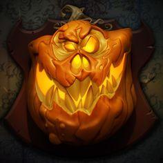 ArtStation - Wall of Monsters - Pumpkin, Hugo Aubert Max Grecke, Halloween Art, Pumpkin Carving, Artwork, Monsters, Wall, Work Of Art, Halloween Crafts, Auguste Rodin Artwork