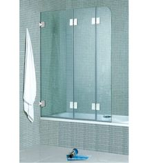 bi fold frameless shower door - add stationary panel, or it comes in ...