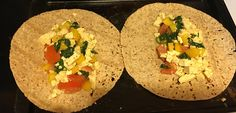 Tofu tacos on multigrain tortilla with spinach, tomatoes, and bell peppers #nutrition #vegetarian #vegan #health #wellness #taco #recipes #food