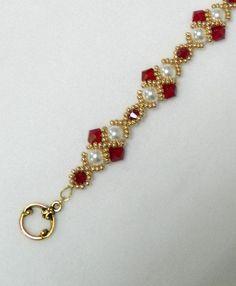 LIBRE - pulsera con cuentas de Swarovski, abalorios pulsera de Swarovski, abalorios joyas - pulseras de elegancia de Halo