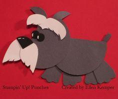 Stampin Up!  Punch Art  Ellen Kemper  Schnauzer#Repin By:Pinterest++ for iPad#