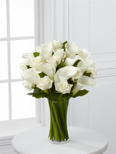 white roses simple arrangement - Google Search