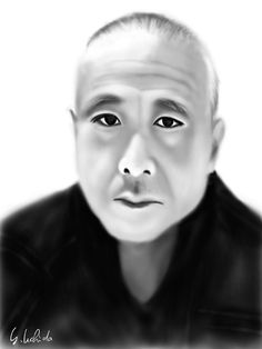 https://flic.kr/p/21SXZ6f   Self Portrait 11.28.2017   iPad finger painting with brushes 2 app on 3rd iPad