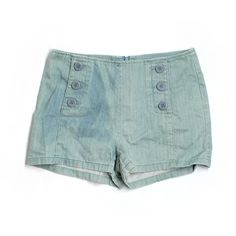 Pre-owned BB Dakota Denim Shorts Size 2: Teal Women's Bottoms ($15) ❤ liked on Polyvore featuring shorts, teal, bb dakota, jean shorts, short jean shorts, bb dakota shorts and denim shorts
