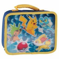 "Boys Lunch Boxes - Pokemon ""Pika Pop"" 3-D Rectangular Lunch Kit"