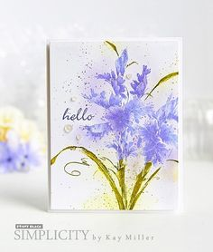 I have a new card up on the Penny Black Simplicity Site today! Penny Black Cards, Penny Black Stamps, Magenta, Beautiful Handmade Cards, Pretty Cards, Copics, Watercolor Cards, Paper Cards, Flower Cards
