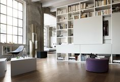 Storage, Beautiful High End Contemporary Modular Bookcase Design Ideas In White Home Library Room ~ Awesome Modular Bookshelves with Unique Styles Modular Bookshelves, Modular Walls, Bookshelf Design, Contemporary Shelving, Contemporary Bathrooms, Living Room Shelves, Living Room Storage, Wardrobe Shelving, Wall Shelving