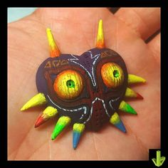 Majora's Mask, llavero terminado! #3dprint #3dprinted #3d #majorasmask #zelda #aneta8 #am8 #art #painting #miniaturepainting… Anet A8, 3 D, Turtle, Zelda, Painting, Animals, Instagram, Key Fobs, Animais