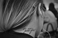 I wish I was brave enough to get a neck tattoo.... This looks so cool!