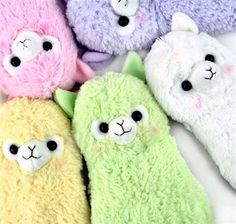 Adorable Alpacasso for sale on coolpencilcase.com! Comes in colors of winking white, plain white, lavender, baby pink, yellow, and apple green!