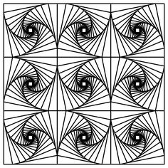 funny printable optical illusions coloring pages enjoy coloring - Free Geometric Coloring Pages