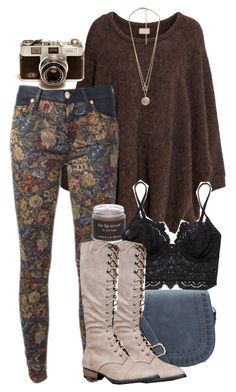 Untitled #567 by travelerofthenight on Polyvore featuring polyvore мода style H&M Free People Breckelle's Forever 21 Sara Happ fashion clothing