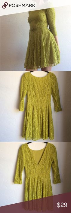 Lace Party Dress Brand is Ark&co. Women's true to size. Belt is small Abercrombie & Fitch Dresses Mini