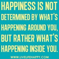Happiness quote via www.LiveLifeHappy.com #quotes - ☮k☮