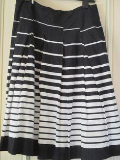 Black White Skirt