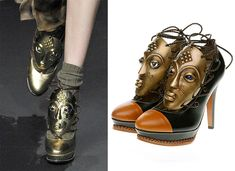 mask shoes from the Wunderkind fall 2010 show