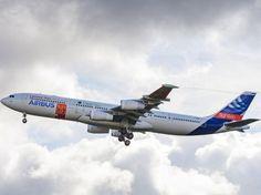 Premier vol réussi pour un Airbus équipé d'ailes laminaires || Un Airbus A340 équipé d'ailes expérimentales, des ailes laminaires permettant un meilleur écoulement de l'air et ainsi des économies de carburant, a effectué avec succès mardi un premier vol, entre Tarbes et Toulouse, suscitant de nombreux espoirs chez l'avionneur européen…