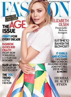 Elizabeth Olsen graces the May 2015 cover of FASHION Magazine.