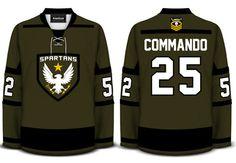 Spartan Hockey Jersey  Geeky Jerseys.com