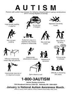 Some Autism Traits Explained- poor graphic