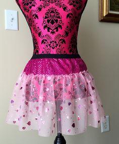 Valentine's Day Running Skirt Sparkle Running by prettypumpkin