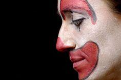 Thoughtful clown