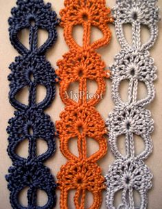 free crochet stitch pattern - you may have to be a member of the MyPicot club to view this, but Nicole recreated a stitch pattern as seen on the runway of Dolce & Gabbana's Spring 2013 Collection