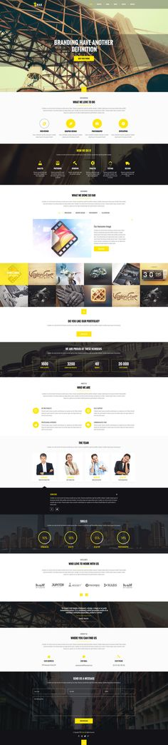 Smak - PSD One Page Web Template, with modern and clean design great for your portfolio, agency and many more PSD file is fully layered and pixel perfect.