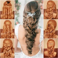 How to DIY Gorgeous Loose Curly Bridal Hairstyle | www.FabArtDIY.com LIKE Us on…