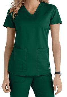 Grey's Anatomy 2 Pocket V-Neck Scrub Tops Medical Office Design, Greys Anatomy Scrubs, Medical Scrubs, Scrub Tops, V Neck Tops, Business Women, Grey's Anatomy, Medical Anatomy, Vestidos
