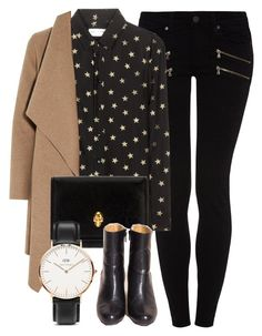 Untitled #5015 by laurenmboot on Polyvore featuring polyvore, fashion, style, Yves Saint Laurent, Harris Wharf London, Paige Denim, Alexander McQueen and Daniel Wellington