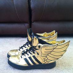 Gold Jeremy Scott Adidas Wings!