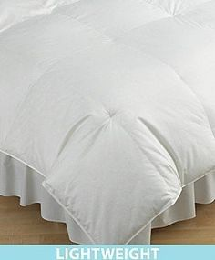 """Hotel Collection """"Light Weight"""" Down Comforter, King by Hotel Collection """"Light Weight"""" Hungarian Down Comforter. $375.00. Soft 100% cotton down proof cover is luxuriously woven at 400 threads per square inch to prevent leakage of precious white down and to provide many years of comfort and wear. Year round comfort is the result of down's lightweight warmth. Filled with fine Hungarian White Goose Down that's been treated to be hypo-allergenic.. 36oz fill weight, 700 fill ..."""