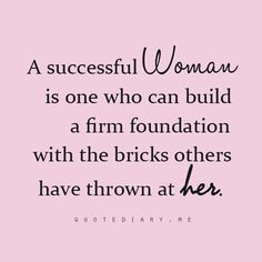 build a firm foundation!