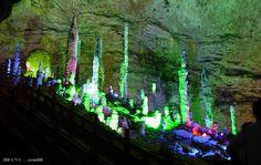 Underground caves at Zhangjiajie, Hunan, China