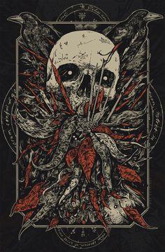 by Timur Khabirov Arte Dope, Dope Art, Dark Artwork, Metal Artwork, Fantasy Kunst, Dark Fantasy Art, Arte Horror, Horror Art, Psychedelic Art