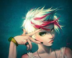Anime Girl with Pixie Hair   Estilo, o gesto, o olhar