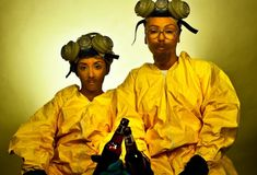 As Jesse and Walt from Breaking Bad: | Snooki And JWOWW Dressed As Iconic Television Duos