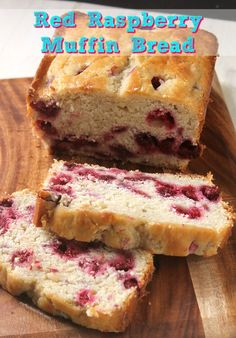 Raspberry Bread, Raspberry Muffins, Red Raspberry, Rasberry Muffins Recipe, Köstliche Desserts, Delicious Desserts, Dessert Recipes, Fruit Bread, Dessert Bread